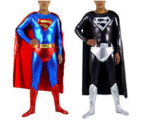 Zentai / Catsuit Costumes Unisex Superhero Costumes dult Superman Costume, Skintight Lycra Superman Bodysuit with Cape & Underwear