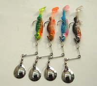 Wholesale 9 gram cm Jigs Lure Fishing Lure Spinner Sequins Bait Lead Head Soft Bait with Spinner Tail Fishing Tackle Lead Fish Shape China Hook