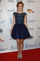 bella cocktail dress - 2015 Royal blue jewel crystal beads cocktail dresses royal blue tulle homecoming gowns Bella Thorne celebrity dresses prom dress SH2814