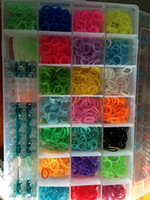 Wholesale DIY Christmas Toys Glow in the dark Glitter Bands Dot Band Tie Dye Bands Rainbow Loom Rubber BAND Silicone Rubber Refill With Clips