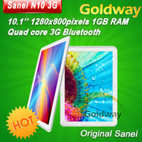Wholesale Sanei N10 G built in Qualcomm quad core tablet pc inch IPS x800px WCDMA Phone Call GPS dual camera