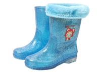 Wholesale high quality kids rainboots with additional inner socks that can be removed freeshipping