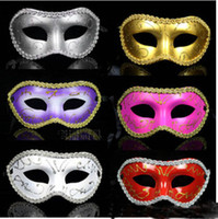 Wholesale 40pcs Mix Color masquerade party halloween dance venetian masks for man and women