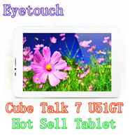 Wholesale Cube Talk U51GT Inch Cheap Tablet PC Hot Buy Best Quality G Android Tablet Pc MTK8312 Dual Core GHZ G Call Phone BT GPS