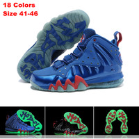 Wholesale 2014 Brand New Men basketball shoes Foamposite sport Athletic Running Shoes Posite glow in the dark luminous