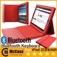 Wholesale Wireless Bluetooth Keyboard Case For iPad Air Mini Tablet Leather Case With Slicone Keyboard Bluetooth Keyboard For ipad2 Air Mini