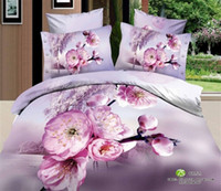 Adult Twill 100% Cotton Free shipping!Red &pink flower queen 4pcs cotton bedding set bedclothes duvet covers bed sheet the bed linen brand bedding