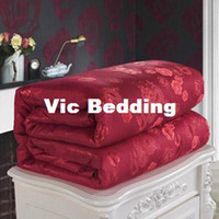 Wholesale Handmade custom wedding silk comforter red silk modal high end gifts
