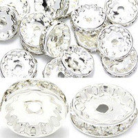 Crimp & End Beads crystal rondelles - RB013 Rhinestone Beads mm Rondelles Clear color Jewelry Parts for Bracelet Earring A Crystal