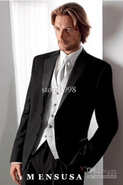 Wholesale Groom Tuxedos Best man Suit Wedding Groomsman Men Suits Bridegroom Jacket Pants Tie Vest Z222