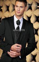 Wholesale Groom Tuxedos Best man Suit Wedding Groomsman Men Suits Bridegroom Jacket Pants Tie Vest Z141