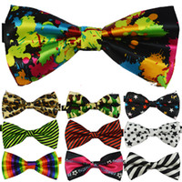 Wholesale Top quality Mens Womens Unisex Floral Star Check Polka Dot Stripes Print Bowtie Neckwear Bow Tie style available