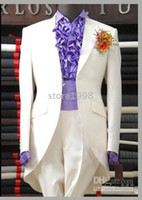 Wholesale Men complete designer Groom suits Groom wear wedding party wear Clothes Pants Tie Girdle No X