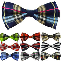 Wholesale Top quality British style Mens Womens Unisex Floral Star Check Polka Dot Stripes Print Bowtie Neckwear Bow Tie