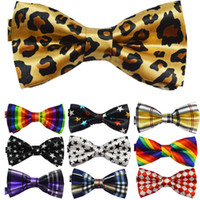 Wholesale Top quality Mens Womens Unisex Floral Star Check Polka Dot Stripes Print Bowtie Neckwear cartoon Bow Tie