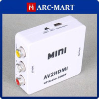 Wholesale Mini Composite RCA CVBS AV to HDMI Converter For VCR DVD P P New High Quality CH071