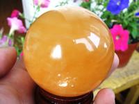 Crystal natural quartz crystal - Natural yellow calcite crystal quartz mm crystal ball crystal ball of jade carving