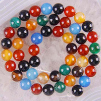 Stone agate - mm MM mm Natural colorful Agate Gemstone Round Beads Strands