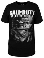Wholesale TOP quality New Black Cotton Short Sleeve T shirt CALL OF DUTY Ghost T shirt
