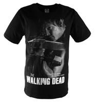 amc walking dead t shirts - Summer men s t shirt TV drama AMC The walking dead T shirt Rick DARYL head portrait