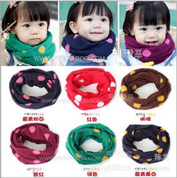 Fashion Baby Winter Warm Scarf Boy Girl Knitted dots Scarves children outdoor collar 8 colors