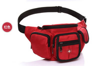 Wholesale New arrival red swisswin waist pa carry bag small bag messenger bag mobile phone bag