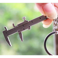 Wholesale S5Q Fashion Lovely D Movable Vernier Caliper Model key Chain key Ring Keyfob NEW AAACBT
