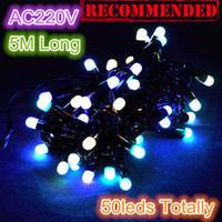Wholesale hot sale Christmas Tree Decorative Lighting M Long leds AC220V RGB Color LED String Light Bulbs