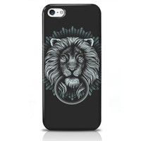 Wholesale Fantastic Smartphone Cases Iphone S C Covers Custom Phone Cases Competely Protect Cell Phone Decorative Pattern Lion on Black Background
