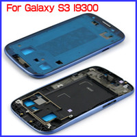 Wholesale 5 Colors Original Brand New Front Housing Frame Chassis Bezel Cover For Galaxy S3 I9300 Retail amp