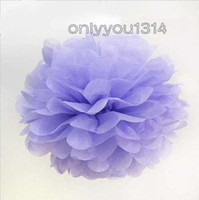 Wholesale 6 cm inch Lavender Tissue Paper Pom Poms Wedding Party Decoration Cheerleading Craft Paper Flower For Baby Shower Decoration