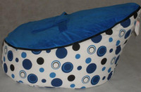 Wholesale Hot Promotion Baby seat baby bean bag blue dot beanbag chair without filling