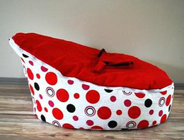 Wholesale Hot Promotion Baby seat baby bean bag red dot beanbag chair without filling
