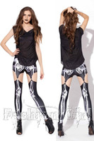 Wholesale upscale skeleton leg garter clips Foreign Trade personalized digital printing Leggings Leggings Star