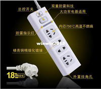 Wholesale Home house anti Lightning power plug with socket wiring board Outlet Strips line plate drag m W Master switch Button