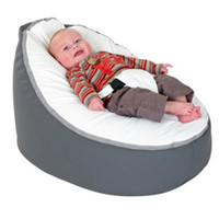Wholesale Hot Promotion Baby seat baby bean bag grey white beanbag chair without filling