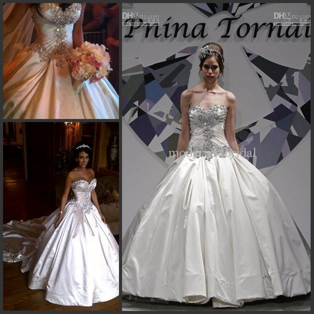 2014 Pnina Tornai Custom Made Ball Gown Bridal Wedding