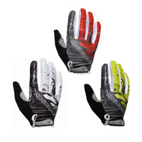 Wholesale HANDCREW Cycling Riding Racing Adult Full Finger Biker Gloves Cycling Protective Gloves W1012