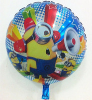 Wholesale Hot Sale Aluminium Foil Ball Helium Balloon Toy Gift Minions Birthday Party Decoration quot