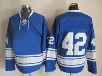 Wholesale 2013 seaso Athletic apparel blue Toronto Maple Leaf ice hockeys clothing comfortable soft Moisture Wicking game jerseys