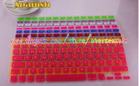 Wholesale German Russian Swedish Arabic Spanish waterproof Keyboard Cover Clear Silicone Rubber ski For Macbook Pro Air Laptop Notebook