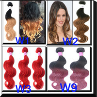Wholesale Ombre hair Weave extensions Brazilian Malaysian Peruvian Eurasian body wave hair A