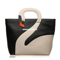 Wholesale For oppo brand women s handbag fashion lady shoulder bag high quality PU leather swan handbags
