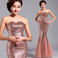 Model Pictures Sequined Sequins Wholesale - 2013 Pink Bride Toast Suit Fishtail Wedding Bridal Wedding Gown Evening Wear Qipao Winter