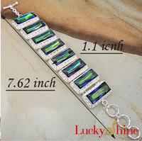 american queen bracelet - Mystical Queen Bracelet Gorgeous Fine Huge Long Mystic Topaz Handmade Silver B0018