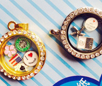 Alloy   260pcs floating locket charms mixed floating charms for glass memory living floating locket pendant Xmas gift no locket