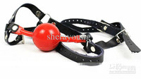 Ball Gags & Bite Gags Female  Head Harness Ball Gag Mouth Bite Gags Bondage Harness Gag Female Slave BDSM SM Femdom Gear Gadgets Sex Toys Game Adult