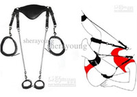 Wrist & Ankle Cuffs sex sling - Leather Thigh Sling For Lady Sex Sling Stirrup Combo Bondage Adult Sex Pleasure Products Toys YTJ283