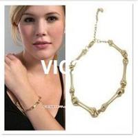 Wholesale by DHL Retro New Fashion Jewelry Bone Bracelet Brand designer Star model Silver Gold Bone Bracelet RJ662