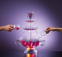 Wholesale Creative Pyramid Red Wine beverage machine V V juice soft drink Fountain machine wedding bar party supply set